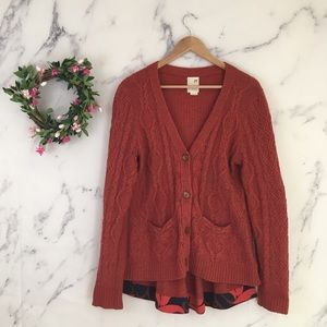 Anthropologie Far Away From Close Wool Cardigan